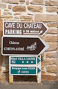 Chateau Corton Andre. Aloxe-Corton village, Cote de Beaune, d'Or, Burgundy, France