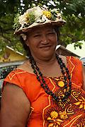 Local woman French Polynesia, Marquesas Islands, Nuku Hiva