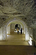 The Serapeum of Saqqara is basically a subterranean labyrinth housing vast granite sarcophagi in separate tunnel-vaulted chambers off the main tunnel-like corridors.