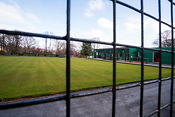 Hillsborough Sheffield  29th March 2020 Hillsboorough Park Bowling Green Closed after the emergency measures  were announced by Prime minister Boris Johnson on Monday evening (23rd march) <br /> <br /> 29 March 2020<br /> <br /> www.pauldaviddrabble.co.uk<br /> All Images Copyright Paul David Drabble - <br /> All rights Reserved - <br /> Moral Rights Asserted -
