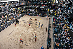 Alexander Brouwer, Robert Meeuwsen in action during the last day of the beach volleyball event King of the Court at Jaarbeursplein on September 12, 2020 in Utrecht.