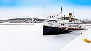 ÖSTERSUND 20191226<br /> Ångaren Thomee i hamnen i Östersund på Annandag jul.<br /> <br /> Foto: Per Danielsson/Projekt.P