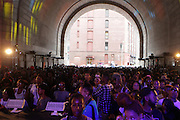 13 September-Brooklyn, New York:  Audience attends the Essence Street Style Block Party held at The Dumbo Archway Under the Manhattan Bridge on September 13, 2015 in the DUMBO section of Brooklyn, New York.   (Photo by Terrence Jennings/terrencejennings.com)