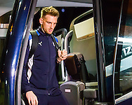 Daniel Jones of Chesterfield getting off the coach before the Sky Bet League 1 match at The Den, London<br /> Picture by Richard Brooks/Focus Images Ltd 07947656233<br /> 21/02/2017