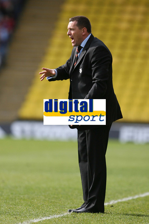 Photo: Pete Lorence/Richard Lane Photography. <br />Watford v Scunthorpe United. Coca-Cola Championship. 26/04/2008. <br />Watford Manager, Adrian Boothroyd.