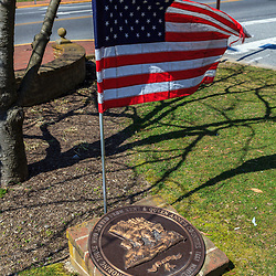 Chestertown, MD, USA - March 30, 2013: A memorial in Chestertown Maryland for Veterans of Desterst Storm