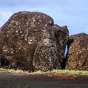 This is the monument of the bird man Easter Island.