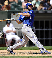 CHICAGO - JULY 06:  Eric Hosmer #35 of the Kansas City Royals bats against the Chicago White Sox on July 6, 2011 at U.S. Cellular Field in Chicago, Illinois.  The Royals defeated the White Sox 4-1.  (Photo by Ron Vesely/MLB Photos via Getty Images)  *** Local Caption *** Eric Hosmer