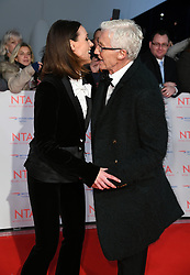 Suranne Jones and Paul O'Grady attending the National Television Awards 2018 held at the O2, London. Photo credit should read: Doug Peters/EMPICS Entertainment