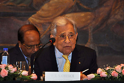 August 1, 2018 - Kolkata, West Bengal, India - EIH Limited Executive Chairman Prithvi Raj Singh Oberoi addresses the shareholders during The Annual General Meeting of EIH Limited the flagship company The Oberoi Group. (Credit Image: © Saikat Paul/Pacific Press via ZUMA Wire)