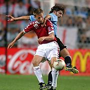 Uruguay's Pablo Garcia and Denmark's Martin Jorgensen