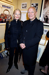 CLARA FISCHER and actor STEVEN BERKOFF at an exhibition of postcards by the late Donald McGill hosted by Michael Winner at Chris Beetles, 8&10 Ryder Street, London SW1 on 14th March 2006.<br /><br />NON EXCLUSIVE - WORLD RIGHTS