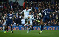Leeds United's Tyler Roberts vies for possession with Blackburn Rovers' Tosin Adarabioyo<br /> <br /> Photographer Kevin Barnes/CameraSport<br /> <br /> The EFL Sky Bet Championship - Leeds United v Blackburn Rovers - Saturday 9th November 2019 - Elland Road - Leeds<br /> <br /> World Copyright © 2019 CameraSport. All rights reserved. 43 Linden Ave. Countesthorpe. Leicester. England. LE8 5PG - Tel: +44 (0) 116 277 4147 - admin@camerasport.com - www.camerasport.com