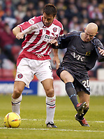 Photo Pete Downing<br />Sheffield Utd V Burnley.<br />Nationwide division one.<br /> 8/11/ 2003.<br />Ashley ward in action for sheffield<br /><br /><br />Photo:Peter Downing