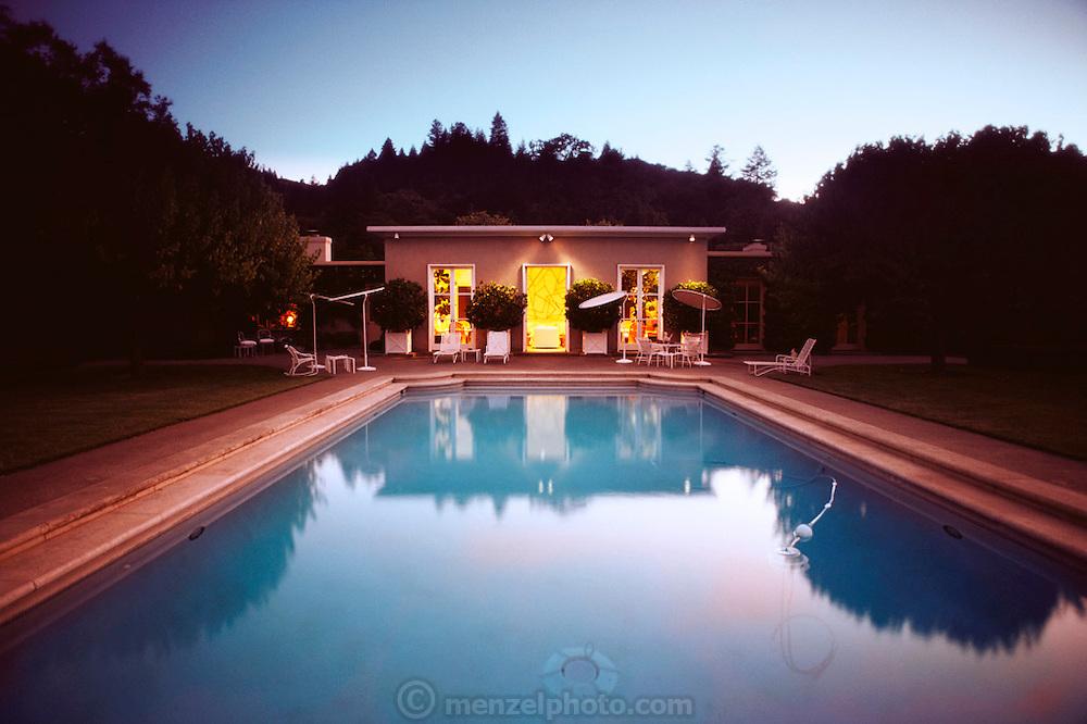 Phillips home, St Helena, California, USA. Gardens designed by Thomas Church. USA.