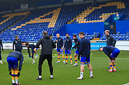 Mal Benning of Mansfield Town (3) in the warm up during the The FA Cup match between Mansfield Town and Dagenham and Redbridge at the One Call Stadium, Mansfield, England on 29 November 2020.