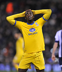 - dejected looking Crystal Palace's Yannick Bolasie Photo mandatory by-line: Alex James/JMP - Tel: Mobile: 07966 386802 02/11/2013 - SPORT - FOOTBALL - The Hawthorns - West Bromwich - West Bromwich Albion v Crystal Palace - Barclays Premier League