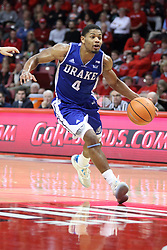 21 February 2018:  De'Antae McMurray during a College mens basketball game between the Drake Bulldogs and Illinois State Redbirds in Redbird Arena, Normal IL