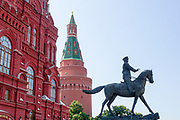 Marshall Zhukov statue near Red Square Moscow Russia