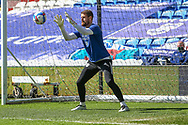 Cardiff City's Goalkeeper Dillon Phillips (1) in action during the pre-match warm-up before the EFL Sky Bet Championship match between Cardiff City and Nottingham Forest at the Cardiff City Stadium, Cardiff, Wales on 2 April 2021.