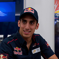 Toro Rosso Formula One driver Sebastien Buemi of Switzerland meets F1 fans during a press event before the Hungarian F1 Grand Prix in a Telenor mobile shop in Budapest, Hungary on July 27, 2011. ATTILA VOLGYI