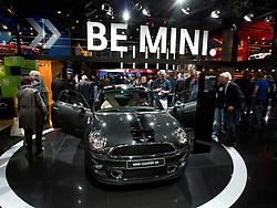 New Mini Coupe on display at Frankfurt Motor Show or IAA 2011 Germany