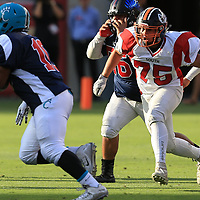 (Photograph by Bill Gerth/ for SVCN/6/24/17) Los Gatos #75 Thomas Gregg moves in for the tackle in the Charie Wedemeyer All Star Game at Levi Stadium, San Jose CA on 6/24/17. (North 13 South 13)