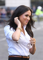The Duchess of Sussex arriving at the launch of the Smart Works capsule collection, John Lewis, Oxford Street, London. Picture credit should read: Doug Peters/EMPICS