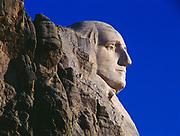 Profile of George Washington, Mount Rushmore National Memorial, South Dakota.