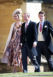 Guests arrive for the wedding of Prince Harry, The Duke of Sussex to Meghan Markle. 19 May 2018 Pictured: (L-R) Lizzie Wilson, Guy Pelly, and James Meade. Photo credit: Chris Jackson/Getty Images/ MEGA TheMegaAgency.com +1 888 505 6342