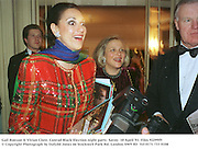 Gail Ronson & Vivian Clore. Conrad Black Election night party. Savoy. 10 April '91. Film 92299f9<br />© Copyright Photograph by Dafydd Jones<br />66 Stockwell Park Rd. London SW9 0DA<br />Tel 0171 733 0108