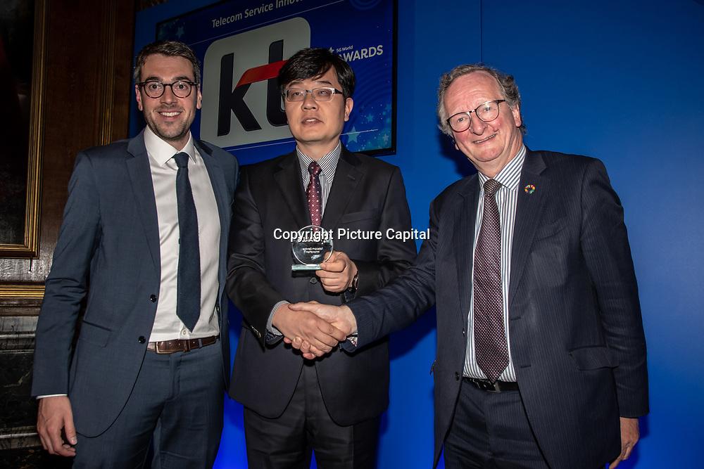 KT 5G winner of Telecom Service Innovation of the 5G Awards ceremony at Drapers' Hall, on 12 June 2019, London, UK.