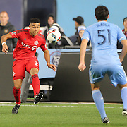 NEW YORK, NEW YORK - November 06:  Justin Morrow #2 of Toronto FC in action during the NYCFC Vs Toronto FC MLS playoff game at Yankee Stadium on November 06, 2016 in New York City. (Photo by Tim Clayton/Corbis via Getty Images)
