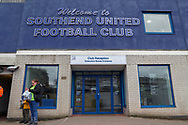 Entrance to Roots Hall during the EFL Sky Bet League 1 match between Southend United and AFC Wimbledon at Roots Hall, Southend, England on 16 March 2019.