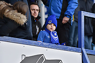 A young supporter during the EFL Sky Bet League 1 match between Portsmouth and Blackpool at Fratton Park, Portsmouth, England on 24 February 2018. Picture by Adam Rivers.