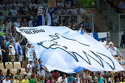 04.09.2013, Arena Bonifka, Koper, SLO, Eurobasket EM 2013, Tuerkei vs Finnland, im Bild Fans of Finnland // before Eurobasket EM 2013 match between Turkey and Finland at Arena Bonifka in Koper, Slowenia on 2013/09/04. EXPA Pictures © 2013, PhotoCredit: EXPA/ Sportida/ Matic Klansek Velej<br /> <br /> ***** ATTENTION - OUT OF SLO *****