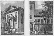 Lyon's Inn Hall, Barnard's Inn Hall, engraving 'Metropolitan Improvements, or London in the Nineteenth Century' London, England, UK 1828 , drawn by Thomas H Shepherd