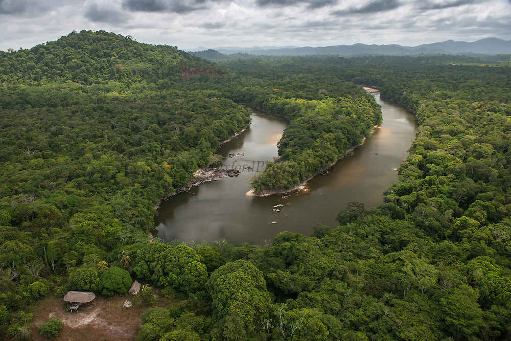 Essequibo River and Wai Wai settlement<br /> Gunns<br /> Rainforest Canopy<br /> Region 9<br /> South GUYANA<br /> South America