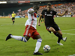 August 5, 2017 - Washington, DC, USA - 20170805 - D.C. United defender STEVE BIRNBAUM (15) steps up to block a passing attempt by Toronto FC forward JOZY ALTIDORE (17) in the second half at RFK Stadium in Washington. (Credit Image: © Chuck Myers via ZUMA Wire)