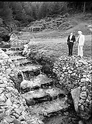 """The Carlingford Oyster Festival.1982.19.08.1982..08.19.1982.19th August 1982..Pictures and Images of the Carlingford Oyster Festival... The Minister For Fisheries and Forestry Mr Brendan Daly officially opened  The Carlingford Oyster Festival. The Chairman of the organising committee was Mr. Joe McKevitt..""""The Oyster Pearl"""" was Ms Deirdre McGrath..The Minister takes in the local sites accompanied by Mr McKevitt."""