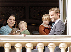 November 19, 2019, Monaco, Monaco: 19-11-2019 Monte Carlo Princess Caroline of Hanover (rear L), Pierre Casiraghi (R), his son Francesco (2-R) Andrea Casiraghi's children Alexandre (front R) and India (front L) during the Monaco national day celebrations in Monaco. (Credit Image: © face to face via ZUMA Press)