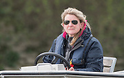 London, Great Britain, Oxford Women's Chief Coach, Christine WILSON, Newton Women's Boat Race, Boat Race Tideway Week. Championship Course, Putney to Mortlake. ENGLAND. <br /> <br /> Monday   06/04/2015<br /> <br /> [Mandatory Credit; Peter Spurrier/Intersport-images]<br /> <br /> Crew, OUBC.<br /> <br /> Will GEFFEN, Tom SWARTZ, Henry GOODIER, James O'CONNOR, Jamie COOK, Mike DISANTO, Sam O'CONNER<br /> Constantine LOULOUDIS and cox Will HAKIM UWBC. Blue Boat returning after their first outing of The Newton Women's Boat Race Tideway Week, Putney to Mortlake. ENGLAND. <br /> <br /> Monday   06/04/2015<br /> <br /> [Mandatory Credit; Peter Spurrier/Intersport-images]<br /> <br /> <br /> Crew,