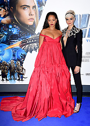 Rihanna and Cara Delevengne attending the European premiere of Valerian and the City of a Thousand Planets at Cineworld in Leicester Square, London.