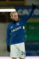 Football - 2020 / 2021 League Cup - Quarter-Final - Everton vs Manchester United - Goodison Park<br /> <br /> Everton Tom Davies during the pre-match warm-up <br /> <br /> <br /> COLORSPORT/TERRY DONNELLY