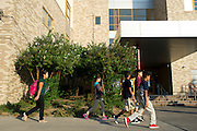 Students arrive at Sam Tasby Middle School in Dallas, Texas on October 2, 2014. Officials confirmed that a student at Sam Tasby Middle School had come in contact with the first confirmed Ebola virus patient in the United States. (Cooper Neill for The New York Times)