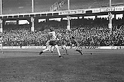 Dublin attempts to get through the Kerry defending line during the All Ireland Senior Gaelic Football Semi Final, Dublin v Kerry in Croke Park on the 23rd of January 1977. Dublin 3-12 Kerry 1-13.
