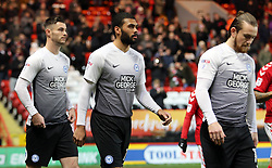 Alex Penny of Peterborough United (centre) on his first EFL start - Mandatory by-line: Joe Dent/JMP - 28/11/2017 - FOOTBALL - The Valley - Charlton, London, England - Charlton Athletic v Peterborough United - Sky Bet League One