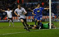 Photo: Steve Bond/Sportsbeat Images.<br />Leicester City v West Bromwich Albion. Coca Cola Championship. 08/12/2007. Zoltan Gera (L) turns away after scoring