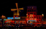 """While """"on tour"""" with CSN in Europe, I got to hang out in Paris.  Wow.. What a city.  City of Lights.  The Moulin Rouge was lit up and was just waiting for this shot."""