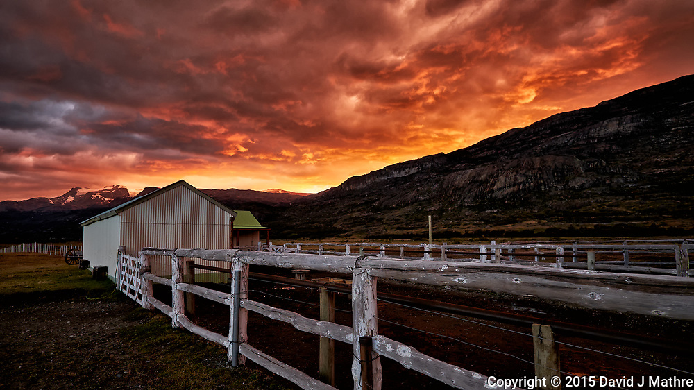 Dawn in Patagonia at Estancia Christina. Image taken with a Fuji X-T1 camera and Zeiss 12 mm f/2.8 lens (ISO 200, 12 mm, f/2.8, 1/60 sec).